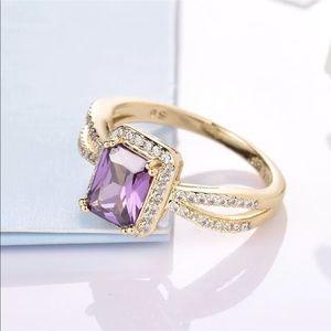 Jewelry - 18k amethyst white sapphire ring
